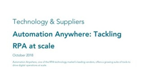 MWD Advisors: Automation Anywhere: Tackling RPA at scale