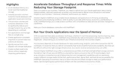 Accelerating Oracle on IntelliFlash Arrays