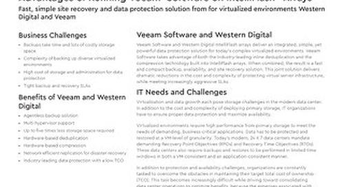 Advantages of Running Veeam on IntelliFlash Arrays