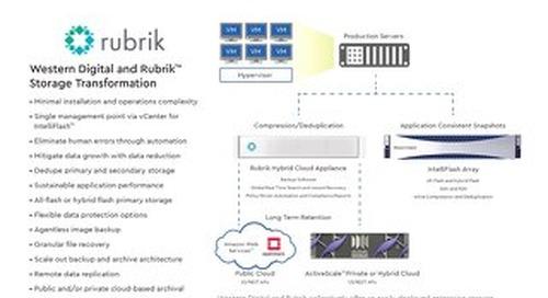 IntelliFlash and Rubrik Solution Brief