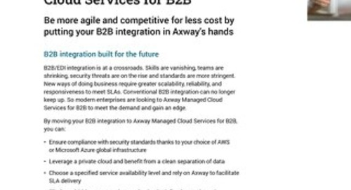 Axway B2B Cloud Managed Services