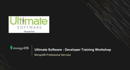 Ultimate Software - Developer Training Workshop First Session