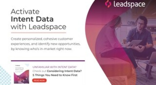Activating Intent Data With Leadspace