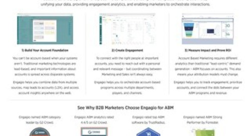 Engagio One Pager