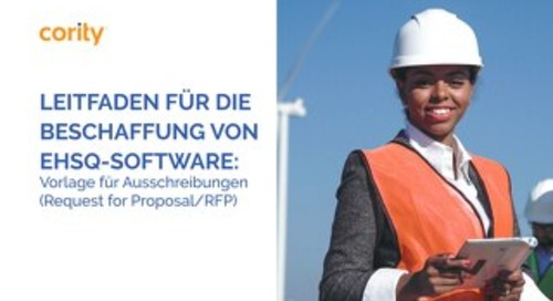 LEITFADEN FÜR DIE BESCHAFFUNG VON EHSQ-SOFTWARE: Vorlage für Ausschreibungen (Request for Proposal/RFP)