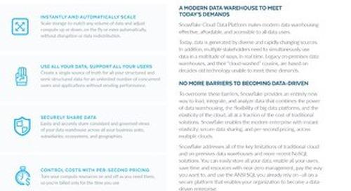 Snowflake for Cloud Data Warehouse Modernization