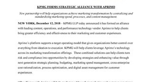 KPMG Forms Strategic Alliance with Aprimo