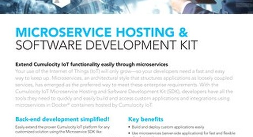 Cumulocity IoT Microservice Hosting and Software Development Kit