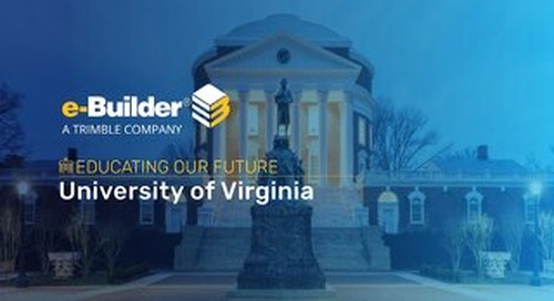 University of Virginia Reaps Rewards of Integrated PMIS Workflow