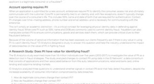 Fraudsters Phone Home: How PII drives identity fraud strategies in the data breach era