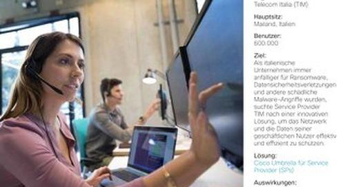 Cisco Umbrella Fallstudie: Telecom Italia