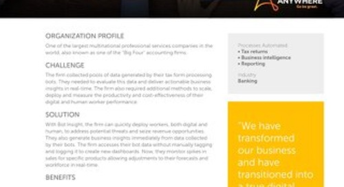 Deep Insight: Global Professional Services Firm Leverages Bot Analytics