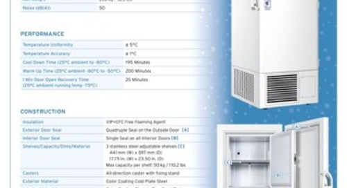[Spec] Blizzard NU-99338J -86°C Ultralow Freezer