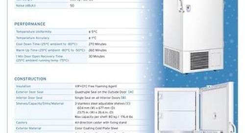[Spec] Blizzard NU-99578J -86°C Ultralow Freezer