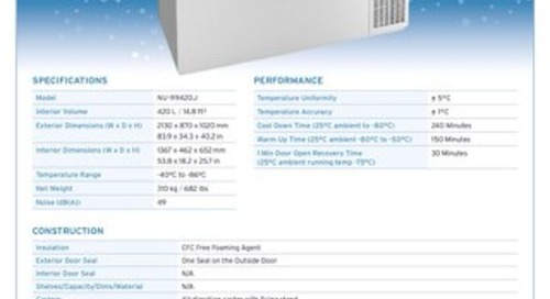 [Spec] Blizzard NU-99420J -86°C Ultralow Freezer