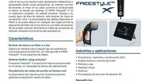 [HOJA TÉCNICA] FARO Freestyle 3D X Objects Scanner
