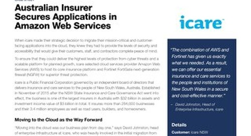 Fortinet Secures icare's Applications in Amazon Web Services