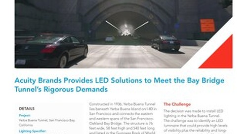 Acuity Brands Provides LED Solutions to Meet the Bay Bridge Tunnel's Rigorous Demands