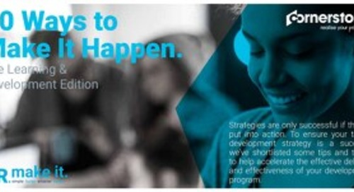 10 Ways to Make It Happen - The Learning & Development Edition