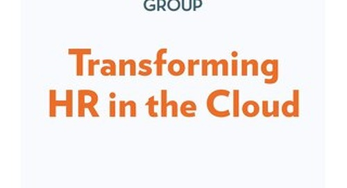 Transforming HR in the Cloud - Fosway Group