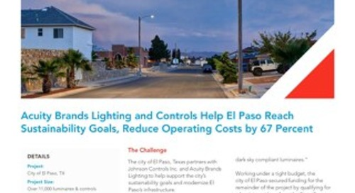 Autobahn and Washington Postlite II LED for the City of El Paso, Texas