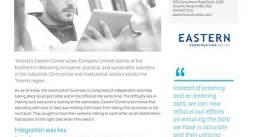 Eastern Construction Improves Data Retrieval With Vista
