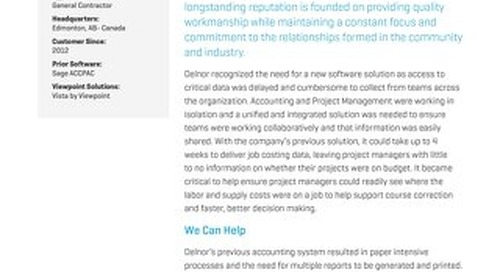 Delnor Improves Collaboration Using Vista by Viewpoint