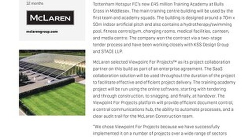McLaren Construction Used Viewpoint for Products to Increase Collaboration