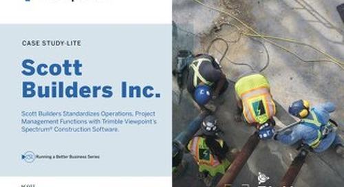 Scott Builders Inc. Standardizes Operations with Spectrum