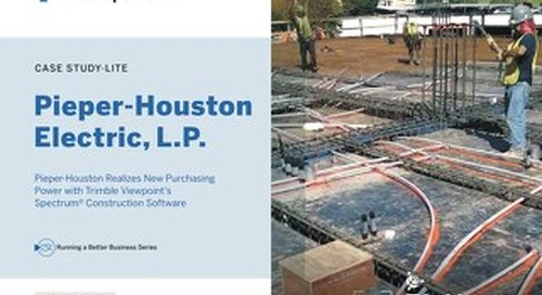 Pieper-Houston Electric Realizes New Purchasing Power with Spectrum Construction Software
