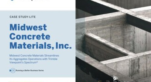 Midwest Concrete Materials Aggregates Operations To Add Efficiency with Viewpoint Spectrum Construction ERP