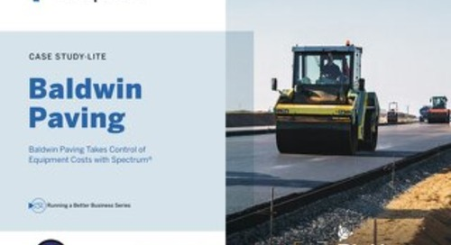 Baldwin Paving Takes Control of Equipment Costs with Spectrum