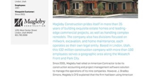 Magleby Construction Finds One Solution for Multiple Companies