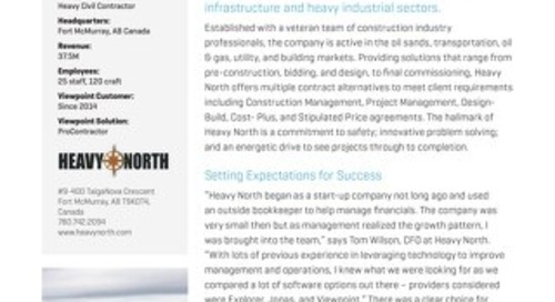 Heavy North Finds Right-Fit Soluton for Growth with Viewpoint Construction Software