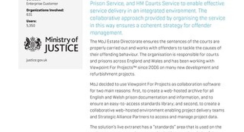 Ministry of Justice Gains Control of Projects with Document Management