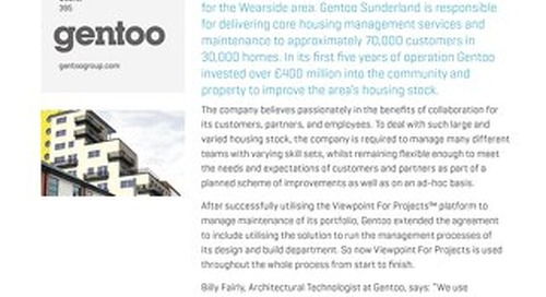 From Start to Finish, Gentoo Relies on Viewpoint for Projects
