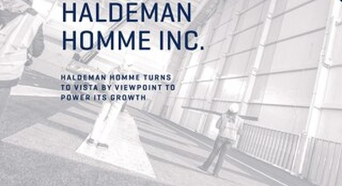 Haldeman Homme Inc.Turns to Vista by Viewpoint to Power Its Growth