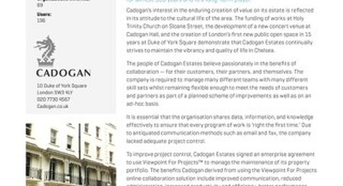 Cadogan Estates Streamlines Thir Operations with Viewpoint for Projects