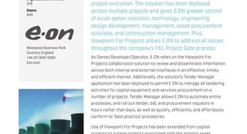 E.ON Power Generation Improves Project Processes.
