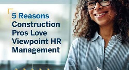 5 Reasons Construction Professionals Love HR Management
