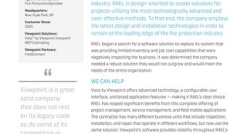 RAEL Sees Improved Efficiencies and Customer Support with Vista