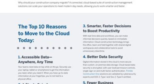 10 Benefits You're Missing Out On If You're Not Operating in the Cloud