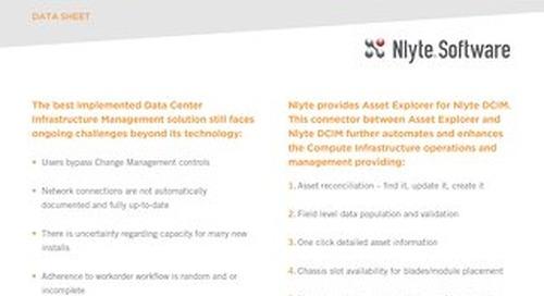 Asset Explorer for Data Center Infrastructure Management - DCIM