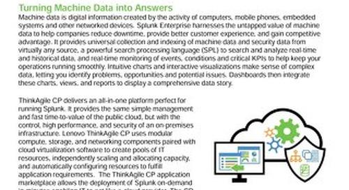 Lenovo Big Data Validated Design for Splunk Enterprise on ThinkAgile CP