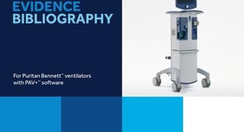 Clinical Bibliography: Puritan Bennett PAV+ Software