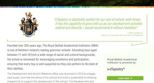 Royal Belfast Academical Institution | eTapestry