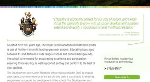 Royal Belfast Academical Institution | eTapestry