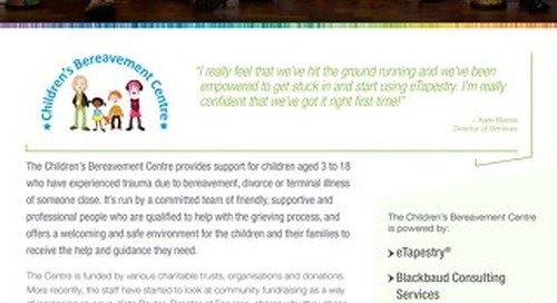 Children's Bereavement Centre | eTapestry