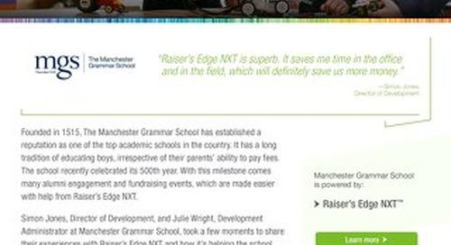 Manchester Grammar School   Raiser's Edge NXT