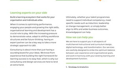 Learning Consultancy and Design - Overview